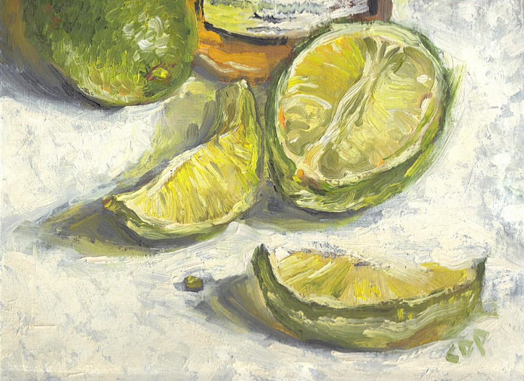 "Limegreen, 9"" x 12"", Oil on canvas board"