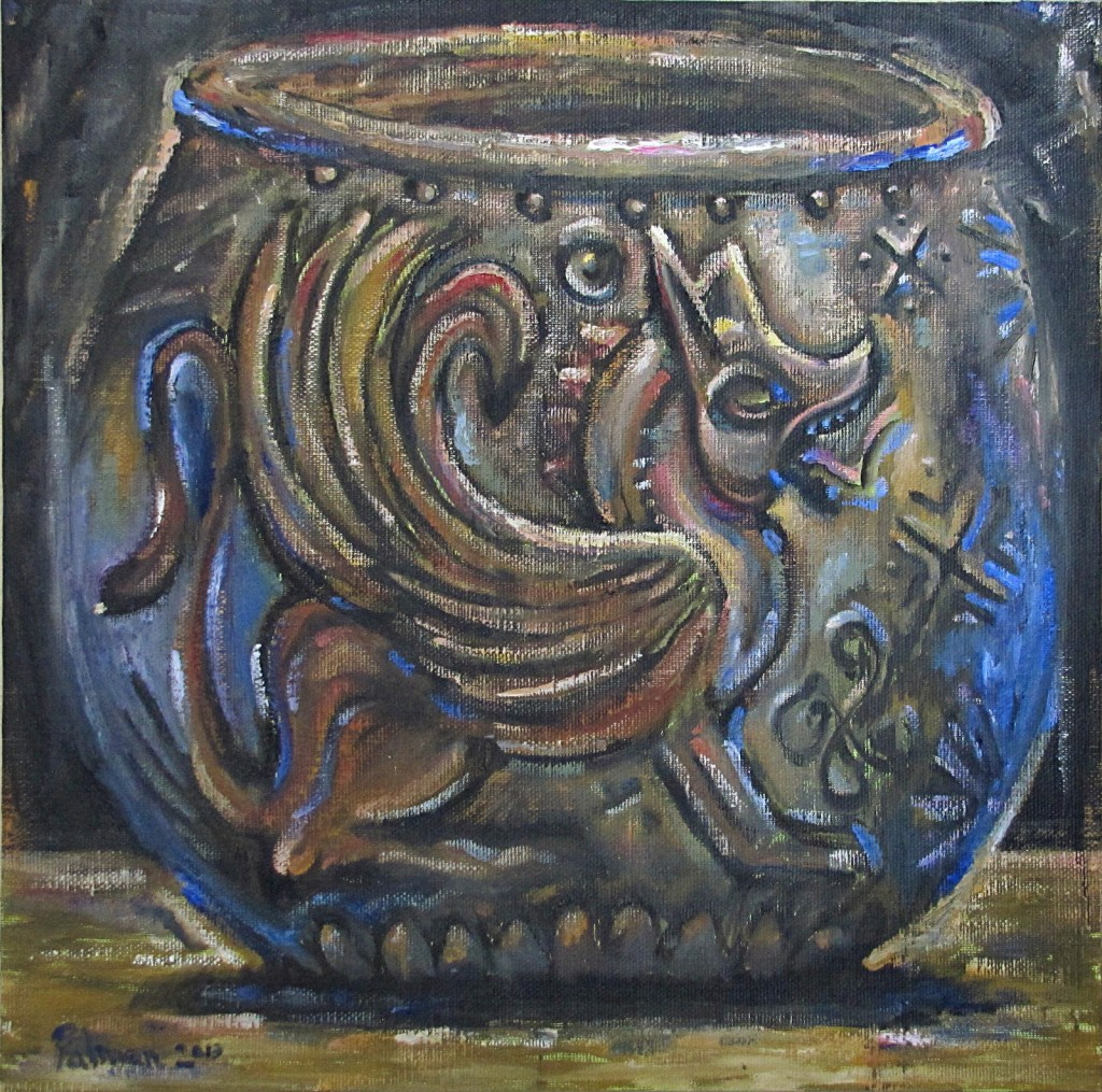 "The Cup III, 24"" x 24"", Oil on canvas panel"